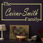 Personalised Family Name Vinyl Wall Art Sticker,  WA7