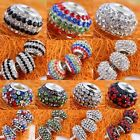 Bulk Austrian Crystal Resin Big Hole Beads Findings Fit European Charm Bracelet