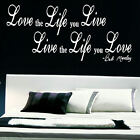LARGE BEDROOM QUOTE BOB MARLEY SIGNATURE LOVE LIFE LIVE WALL ART STICKER  DECAL