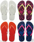 HAVAIANAS SLIM COOL CASUAL SUMMER BEACH TOE POST FLIP FLOP SANDALS SIZES 2-9 NEW