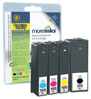 4 Remanufactured 100XL Multipack Ink Cartridges for Lexmark Printers