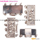 4 Strands Silver-plated Box Jewelry Clasp 10X25MM