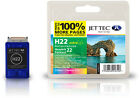 Remanufactured Jettec HP22 Tri-Colour Ink Cartridge for Officejet J3608 & more