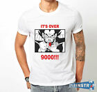 T-SHIRT MAGLIETTA  IT'S OVER 9000 NINE THOUSAND VEGETA DRAGON BALL LEVEL $14.09 USD on eBay