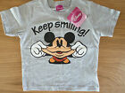 OFFICIAL DISNEY MICKEY MOUSE KEEP SMILING GIRLS T-SHIRT TOP (2-6 YEARS) BNWT