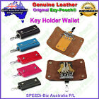 Ezy-Pouch® Quality Genuine Leather Key Holder Case Wallet Purse 6 Keyring Unisex