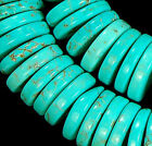 12mm SkyBlue Turquoise Heishi Beads 15.5""