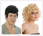 50's Black Mens Teddy Boy Danni Blonde Curly Sandy Wig Fancy Dress Costume