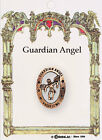 2cm BROOCH GUARDIAN ANGEL MIRACULOUS Our Lady FATIMA Pin Gold Metal Finish