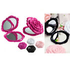 Beautiful 3D Cute Retro Stereo Rose Shape Compact Cosmetic Double Sided Mirror