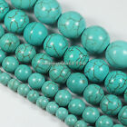 "Gorgeous Turquoise Round Ball Loose Beads 15.5"" 4mm,6mm,8mm,10mm"