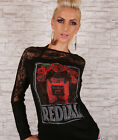 Sexy Ladies Knit Jumper Women's Casual Sweater Lace Top Size 8-12