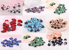 Lots 10 Pcs Lampwork Glass Spot Ladybird Animals Spacer Beads Findings 17x11mm