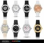 Sekonda Party Time Ladies Watch Love Heart Stone Set Case Rubber Strap