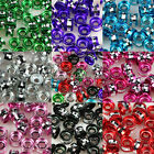 100/200pcs Gorgeous Cut Aluminum Rondelle Spacer Beads,8 Color-1 Or Mixed