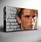 AMERICAN PSYCHO 'MASK OF SANITY' QUOTE - GICLEE CANVAS ART