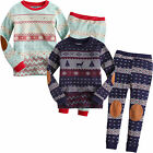 "Vaenait Baby Toddler Kids Long Sleeve Sleepwear Set ""Europe Alps"""