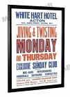 The Who Detours Concert Poster White Hart Hotel Acton 1962