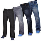 Mens Bootcut Denim Jeans Wide Leg Casual Pants Trousers Big & Tall Waist 28-50