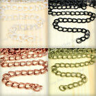 Brandnew 7.8x6.5mm 2M/6M/10M Iron Double Curb Unfinished Chain wholesale FBCH124