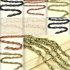 DIY 4.1x2.7mm/5.9x4mm Iron Woven Curb Unfinished Chains fit Jewelry Making New