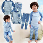 "NWT Vaenait Baby Toddler Kid Boy Girl In Door Sleepwear Pajama Set ""Basic Blue"""