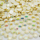 AB - IVORY ACRYLIC ROUND RHINESTONE GEM FLAT BACK ART CARD CRAFTS DECORATION S