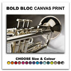 Trumpet MUSIC INSTRUMENTS   Canvas Art Print Box Framed Picture Wall Hanging BBD