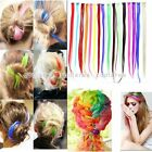 "1PC 20""L Colorful Clip In Hair Extension Piece Synthetic Women Hairpiece Good"