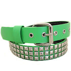 Entourage Studded Fashion Belt - Kelly Green