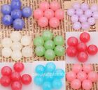 Lots 50 pcs Glass Jade Spacer Beads 10mm  Jewelry Making DIY Findings