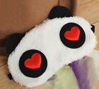 women/men Soft Panda Eyeshade Travel Sleep Spa Shading Sleep Eye Mask Blindfold