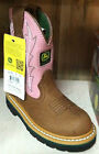 NEW John Deere Childrens PINK/BROWN Leather Boots FREE SHIPPING