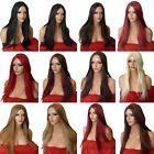 Cheap Long Straight Halloween Costume Women Sexy wig blonde Black Brown Red O