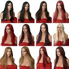 blonde Black Brown Red WIG Long Straight Halloween Fancy Dress Lady Ladies wig O