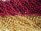 Red Gold Chiefs 49er's Mardi Gras Beads Football Tailgate Party Favors 24 48 72