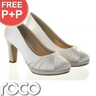 Ladies Ivory Designer Rainbow Club Wide Fitting Wedding Bridesmaid Bridal Shoes