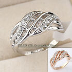 B1-R411 Fashion 10mm Band Ring 18KGP Rhinestone Crystal Size 5.5-8