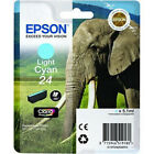 Genuine Epson 24 / T2425 Light Cyan Printer Ink Cartridge