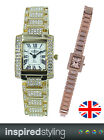 Prince London NY ELEGANT ladies watch, JEWELLED stone diamante strap & bezel
