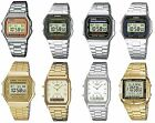 Casio Retro Digital Alarm Stopwatch Chronograph Silver / Gold Gents Watches image