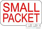 RED SMALL PACKET Mini Labels for Air Mail 65's BEST VALUE 240 to 5200 RED PRINT