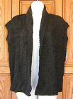 ROXY~ CHARCOAL GRAY MARLED KNIT CARDIGAN SWEATER VEST TOP NEW B
