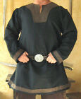 Medieval Celtic Viking Long Sleeves Norman Shirt with Collar and Trims