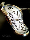 Unusual Salvador Dali Style Melting Desktop Clock Novelty Office Desk Gift Toy