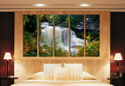 Waterfall In Fall Great Home Decor High Quality Canvas Art Set Big Sizes