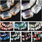 25 Charms Rectangle Glass Crystal Braclet&Necklace Finding Spacer Bead18mm Color