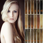 Any Color&Length Clip In Human Hair Extensions Real Human Hair Free Shipping 7pc