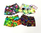"GYMNASTIC DANCE SHORTS PEACE SIGNS 1"" INSEAM YOUTH SIZES 6,8,10,12  NWOT"