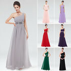 Women's  Chiffon One Shoulder Bridesmaid Maxi Evening Party Long Dress 09770